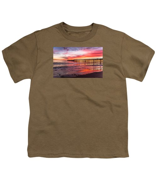 Youth T-Shirt featuring the photograph Seacliff Sunset by Lora Lee Chapman