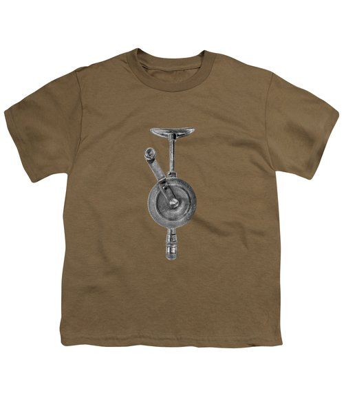 Antique Shoulder Drill Front Bw Youth T-Shirt by YoPedro