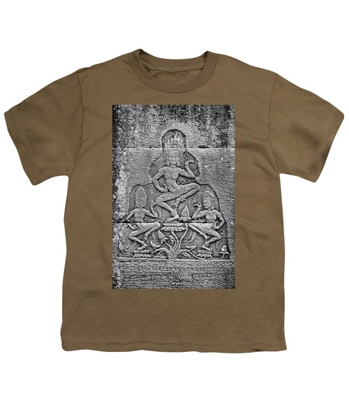 Youth T-Shirt featuring the photograph Apsaras 3, Angkor, 2014 by Hitendra SINKAR