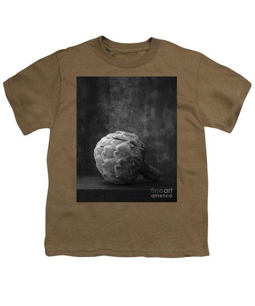 Artichoke Black And White Still Life Youth T-Shirt