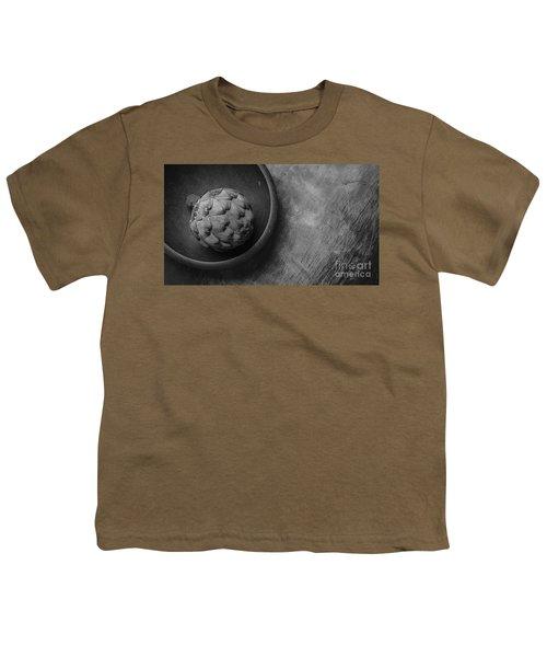 Artichoke Black And White Still Life Three Youth T-Shirt