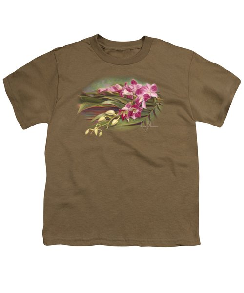 Dendrobium Orchids Youth T-Shirt