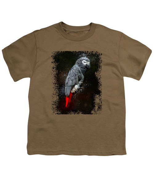 African Grey Parrot  Youth T-Shirt