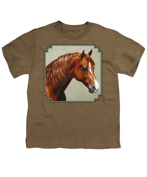 Morgan Horse - Flame Youth T-Shirt by Crista Forest