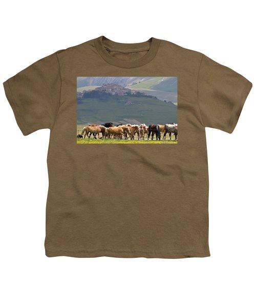 Castelluccio Di Norcia, Parko Nazionale Dei Monti Sibillini, Italy Youth T-Shirt