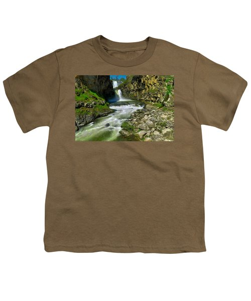 At The Bottom Of White River Falls Youth T-Shirt