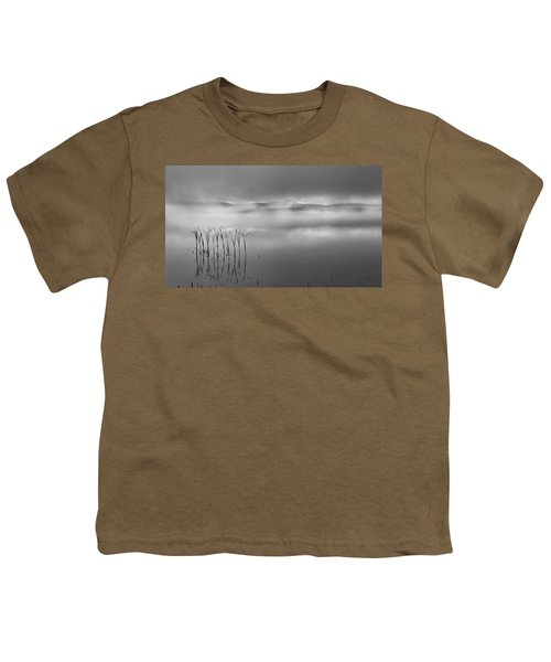 Youth T-Shirt featuring the photograph Autumn Fog Black And White by Bill Wakeley
