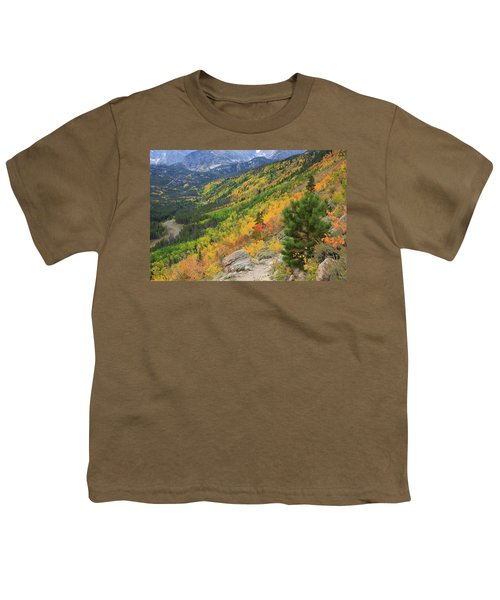 Youth T-Shirt featuring the photograph Autumn On Bierstadt Trail by David Chandler