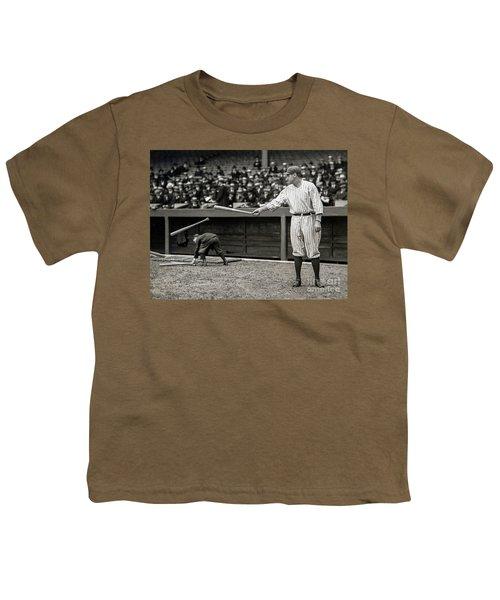 Babe Ruth At Bat Youth T-Shirt
