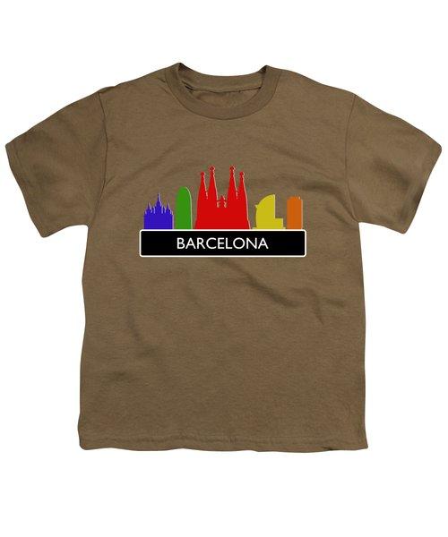 Barcelona Skyline Youth T-Shirt