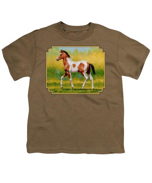 Bay Pinto Foal Youth T-Shirt