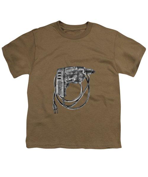 Bd Drill Motor Bw Youth T-Shirt by YoPedro