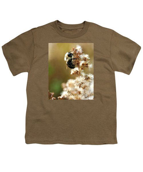 Bee On Goldenrod Youth T-Shirt