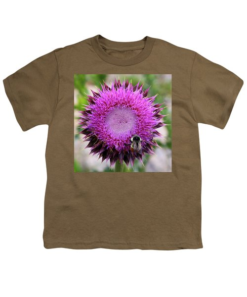 Bee On Thistle Youth T-Shirt
