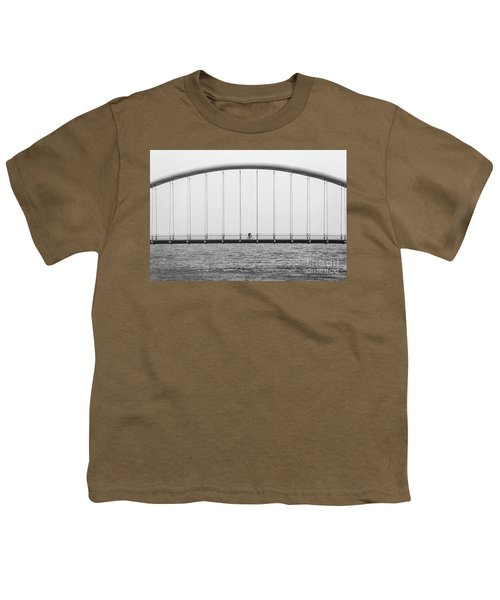Youth T-Shirt featuring the photograph Black And White Bridge by MGL Meiklejohn Graphics Licensing