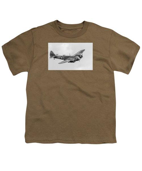 Blenheim Mk I Black And White Version Youth T-Shirt by Gary Eason