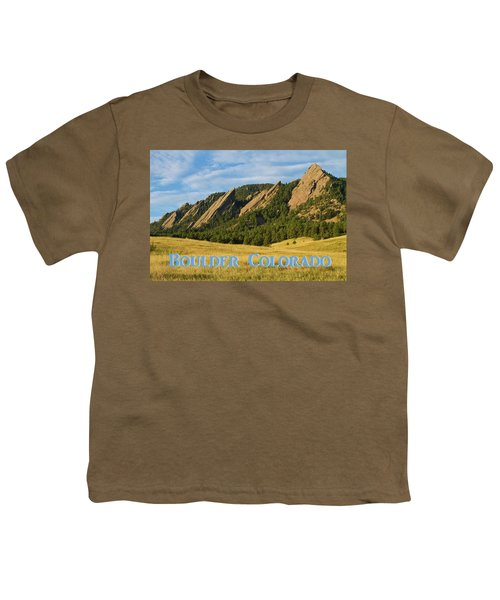 Youth T-Shirt featuring the photograph Boulder Colorado Poster 1 by James BO Insogna