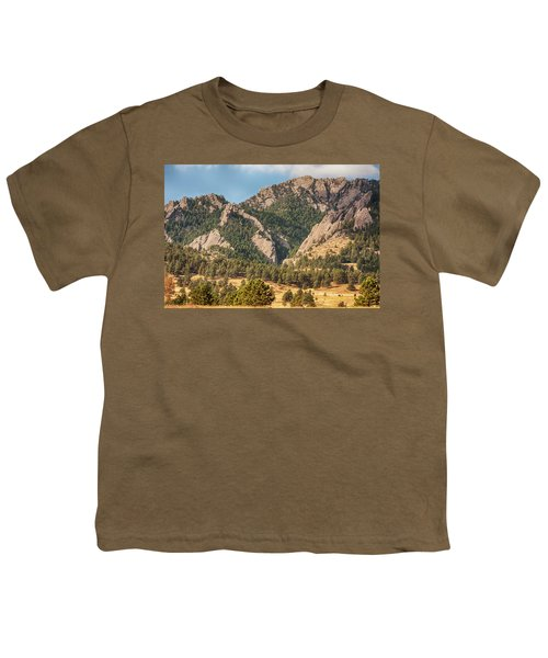 Youth T-Shirt featuring the photograph Boulder Colorado Rocky Mountain Foothills by James BO Insogna