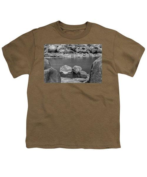 Youth T-Shirt featuring the photograph Boulders Of Tungabhadra, Hampi, 2017 by Hitendra SINKAR