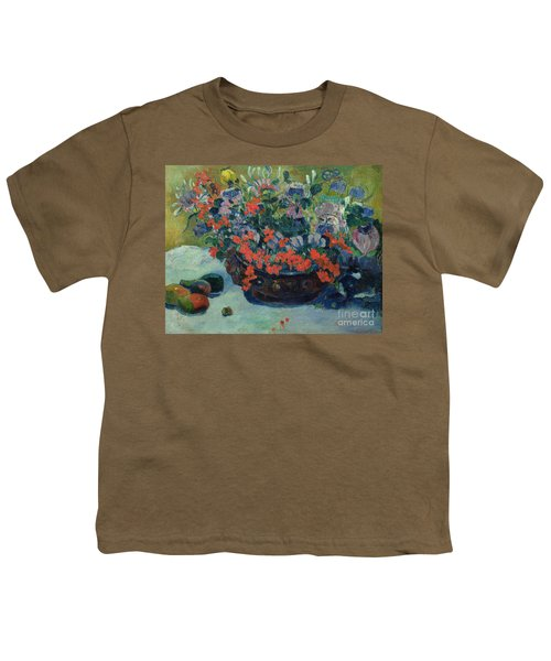 Bouquet Of Flowers Youth T-Shirt by Paul Gauguin