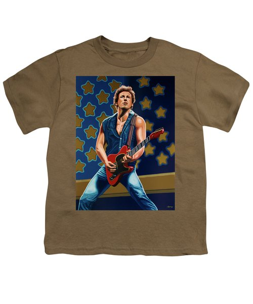 Bruce Springsteen The Boss Painting Youth T-Shirt by Paul Meijering
