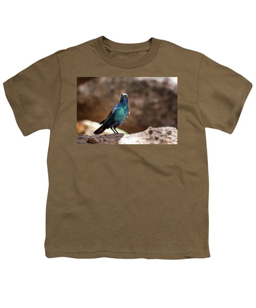 Cape Glossy Starling Youth T-Shirt by Jane Rix