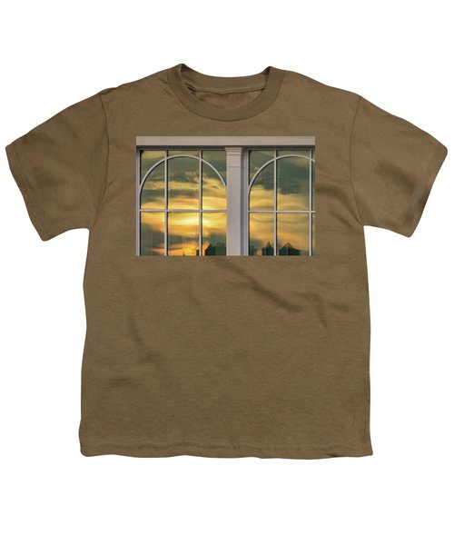 Cape May Abstract Sunset Reflection Youth T-Shirt