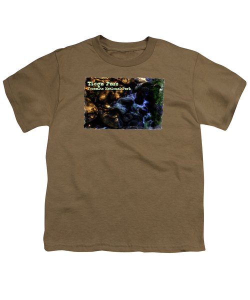 Cascade Along The Tioga Pass Yosemite Youth T-Shirt by Roger Passman