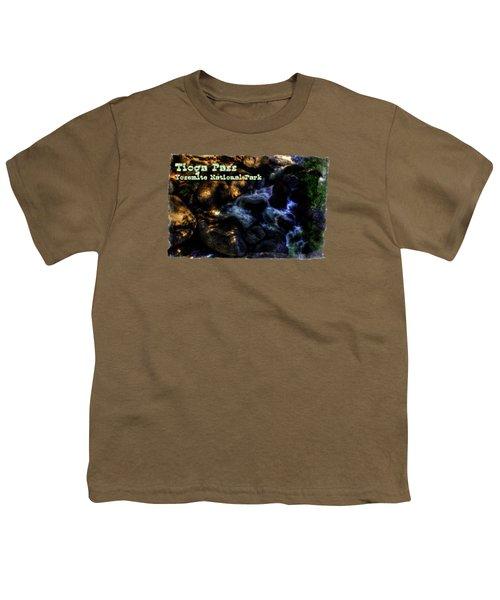 Cascade Along The Tioga Pass Yosemite Youth T-Shirt