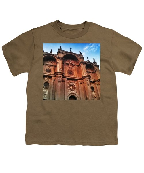 Catedral De #granada View From Plaza Youth T-Shirt