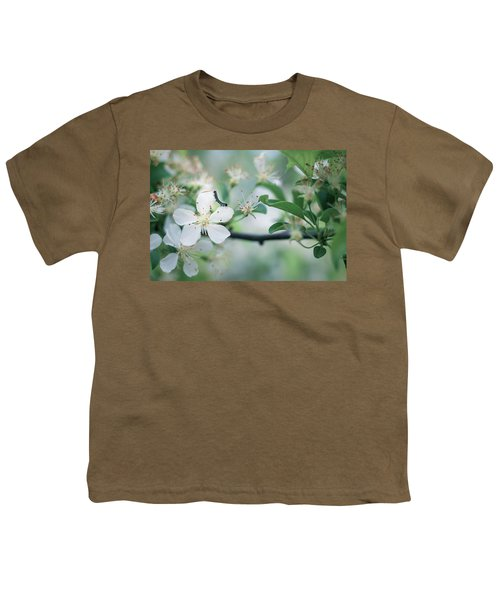 Caterpillar On A Tree Blossom Youth T-Shirt