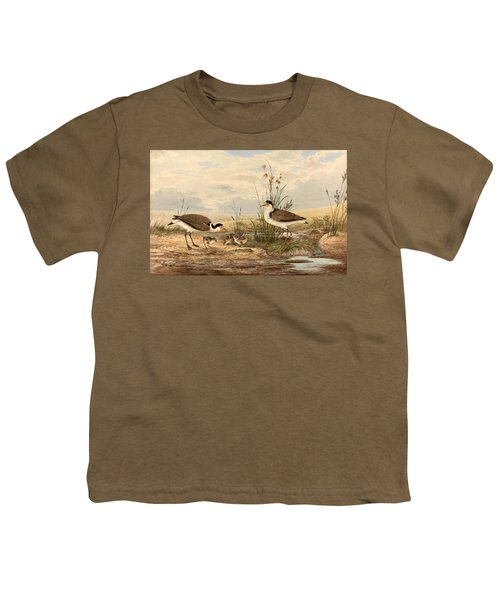 Cayley Masked Lapwing. Vanellus Miles Youth T-Shirt