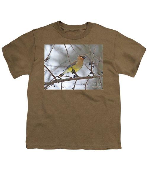 Cedar Wax Wing-2 Youth T-Shirt