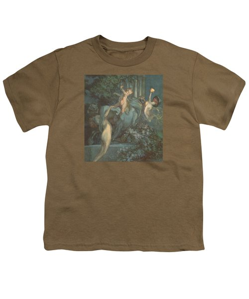Centaur Nymphs And Cupid Youth T-Shirt by Franz von Bayros