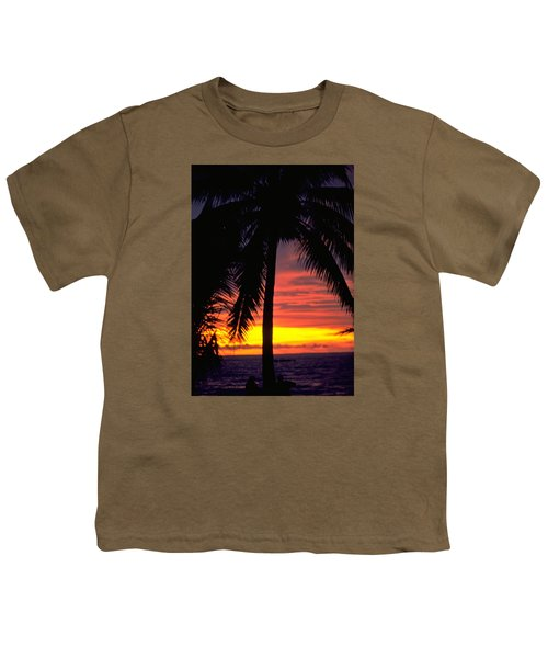 Champagne Sunset Youth T-Shirt by Travel Pics