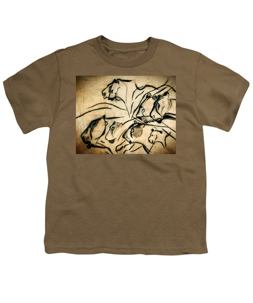 Chauvet Cave Lions Youth T-Shirt