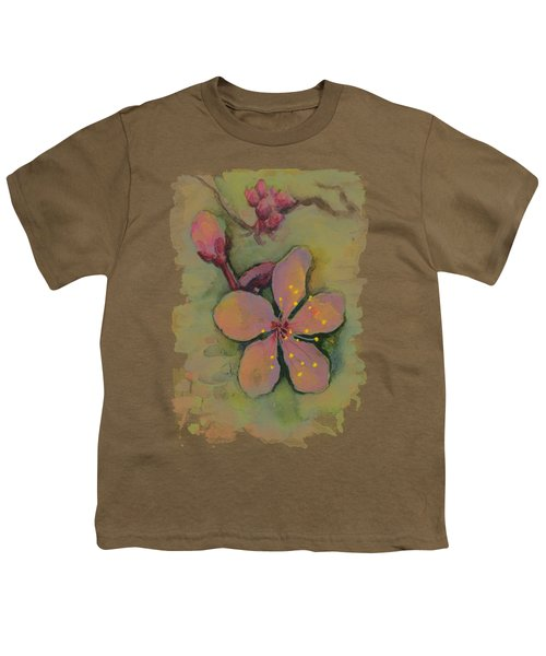 Cherry Blossom Watercolor Youth T-Shirt
