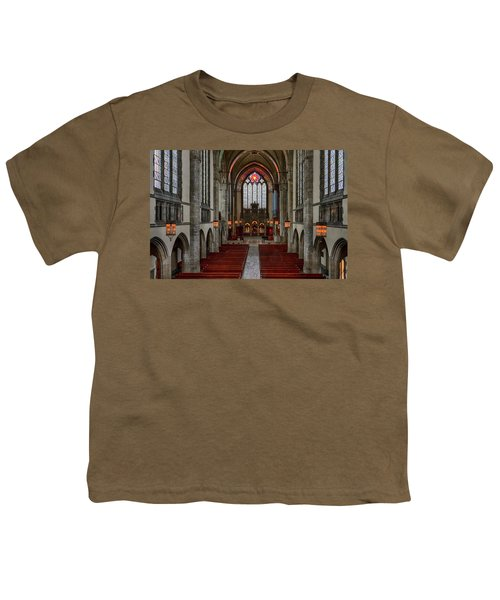 Chicago Rockefeller Chapel Youth T-Shirt by Mike Burgquist