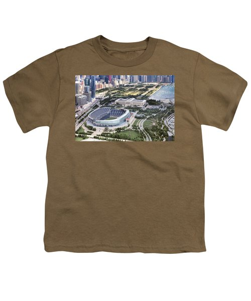 Youth T-Shirt featuring the photograph Chicago's Soldier Field by Adam Romanowicz