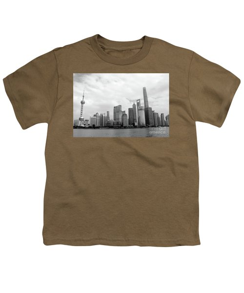 Youth T-Shirt featuring the photograph City Skyline by MGL Meiklejohn Graphics Licensing