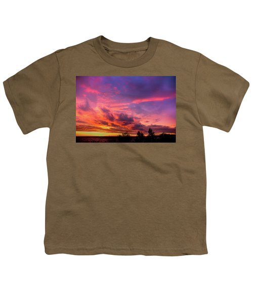 Clouds At Sunset Youth T-Shirt