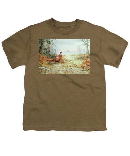 Cock Pheasant  Youth T-Shirt by Carl Donner