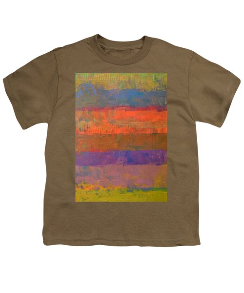 Color Collage Two Youth T-Shirt by Michelle Calkins