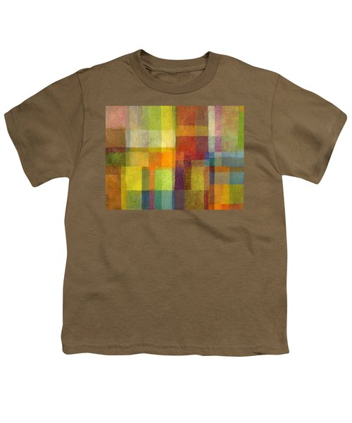 Color Collage With Green And Red 2.0 Youth T-Shirt by Michelle Calkins