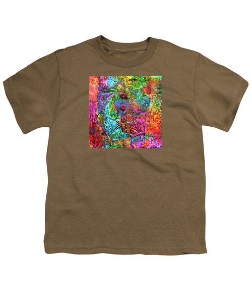 Color With Buttons Youth T-Shirt