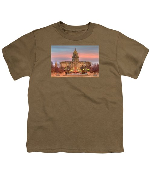 Youth T-Shirt featuring the photograph Colorado Capital by Gary Lengyel