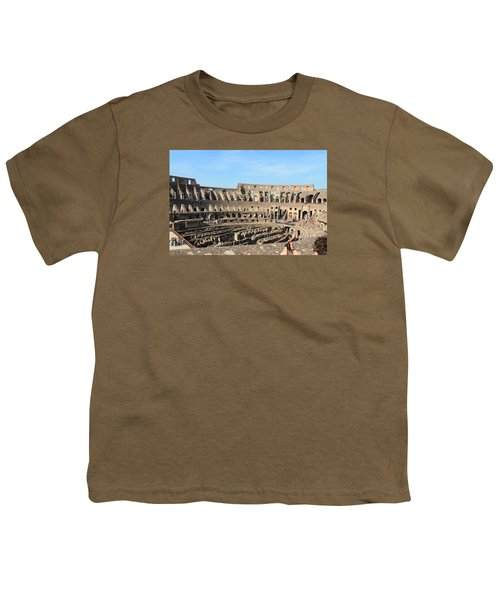Colosseum Inside Youth T-Shirt by Kaitlin McQueen