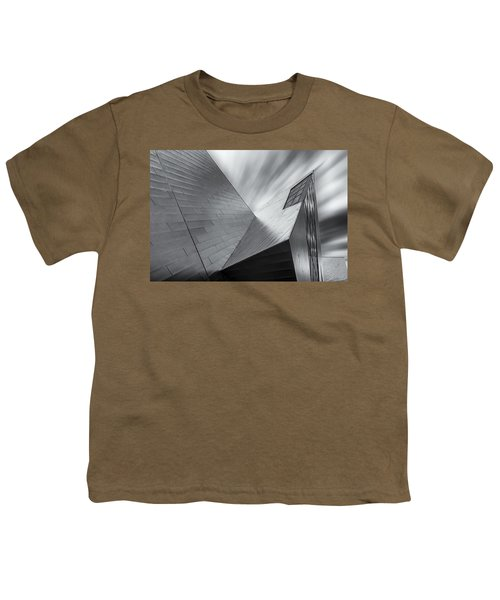 Youth T-Shirt featuring the photograph Contemporary Architecture Of The Shops At Crystals, Aria, Las Ve by Adam Romanowicz