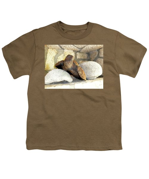 Youth T-Shirt featuring the photograph Coral And Turtle Decor by Francesca Mackenney