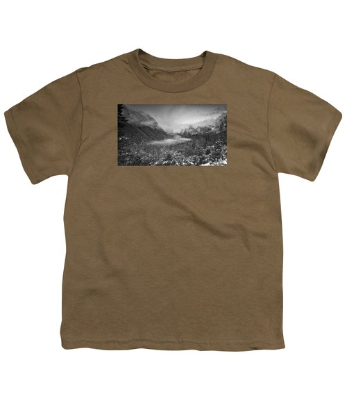 Youth T-Shirt featuring the photograph Cotton Candy Blankets Yosemite by Lora Lee Chapman